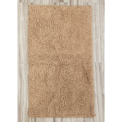 Eastcotts 100% Cotton Spray Latex Back Bath Rug Size: 24 H X 17 W, Color: Natural