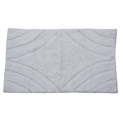 Barnes Diamond Bath Rug Size: 40 H X 24 W, Color: White