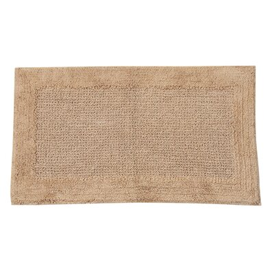 Radcliffe 100% Cotton Naples Spray Latex Back Bath Rug Color: Natural, Size: 40 H X 24 W