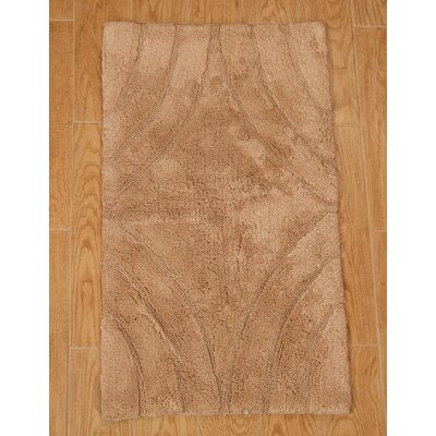 Barnes Diamond Bath Rug Color: Natural, Size: 34 H X 21 W