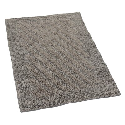 Verne 100% Cotton Shooting Star Reversible Bath Rug Color: Stone, Size: 40 H X 24 W