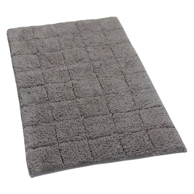 Proust 100% Cotton Summer Tile Spray Latex Back Bath Rug Size: 24 H X 17 W, Color: Stone