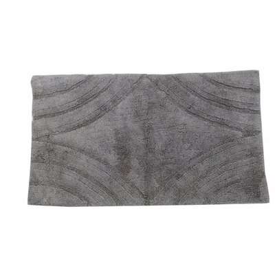 Barnes Diamond Bath Rug Color: Silver, Size: 24 H X 17 W