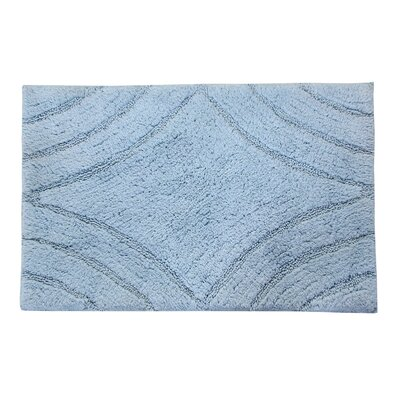 Barnes Diamond Bath Rug Size: 34 H X 21 W, Color: Light Blue
