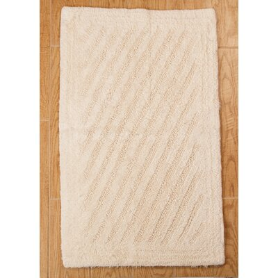 Verne 100% Cotton Shooting Star Reversible Bath Rug Color: Ivory, Size: 40 H X 24 W