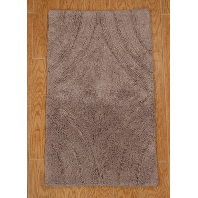 Barnes Diamond Bath Rug Color: Stone, Size: 24 H X 17 W