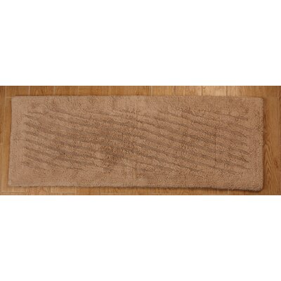 Verne 100% Cotton Shooting Star Reversible Bath Rug Color: Natural, Size: 34 H X 21 W