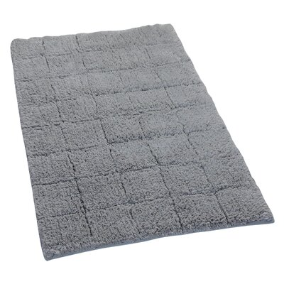 Proust 100% Cotton Summer Tile Spray Latex Back Bath Rug Color: Silver, Size: 40 H X 24 W