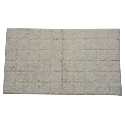 Proust 100% Cotton Summer Tile Spray Latex Back Bath Rug Color: Ivory, Size: 34 H X 21 W