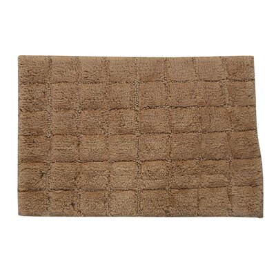 Proust 100% Cotton Summer Tile Spray Latex Back Bath Rug Color: Taupe, Size: 40 H X 24 W