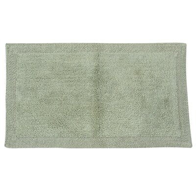 Golding 2 Piece 100% Cotton Bella Napoli Reversible Bath Rug Set Color: Light Sage, Size: 24 H X 17 W and 40 H X 24 W