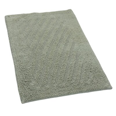 Verne 100% Cotton Shooting Star Reversible Bath Rug Color: Light Sage, Size: 34 H X 21 W