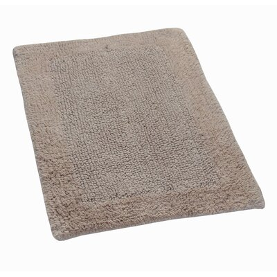 Golding 100% Cotton Bella Napoli Reversible Bath Rug Color: Natural, Size: 24 H X 17 W