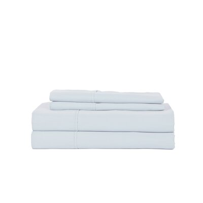 Hobbes 450 Thread Count Egyptian Quality Cotton Sheet Set Size: King, Color: Light Blue