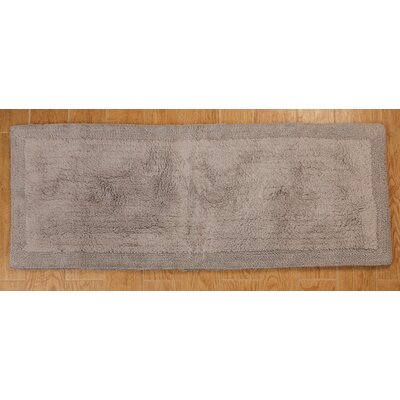 Golding 100% Cotton Bella Napoli Reversible Bath Rug Color: Silver, Size: 60 H X 22 W