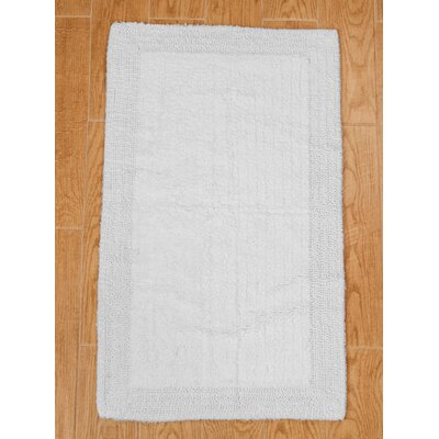 Golding 100% Cotton Bella Napoli Reversible Bath Rug Color: White, Size: 24 H X 17 W