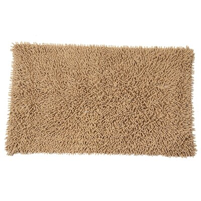Eastcotts 100% Cotton Chenille Shaggy Spray Latex Back Bath Rug Size: 40 H X 24 W, Color: Taupe