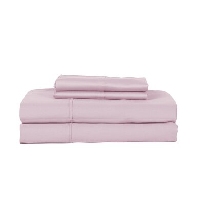 Hobbes 450 Thread Count Egyptian Quality Cotton Sheet Set Size: Twin, Color: Lavender