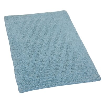 Verne 100% Cotton Shooting Star Reversible Bath Rug Color: Light Blue, Size: 30 H X 20 W