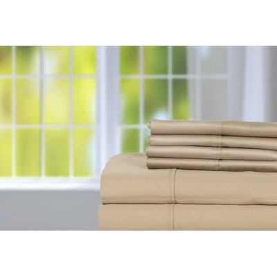 Hobbes 450 Thread Count Egyptian Quality Cotton Sheet Set Size: King, Color: Taupe