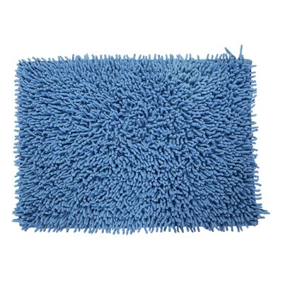 Keats 100% Cotton Chenille Shaggy Spray Latex Back Bath Rug Size: 30 H X 20 W, Color: Medium Blue