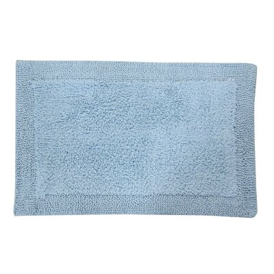 Golding 100% Cotton Bella Napoli Reversible Bath Rug Size: 30 H X 20 W, Color: Light Blue
