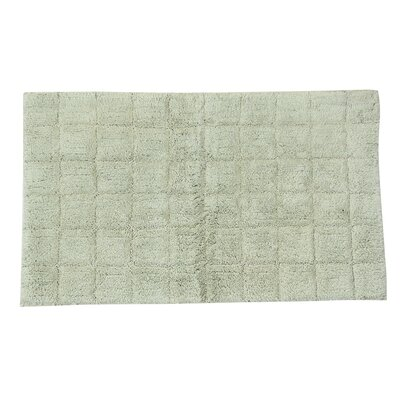 Proust 100% Cotton Summer Tile Spray Latex Back Bath Rug Size: 24 H X 17 W, Color: Light Sage