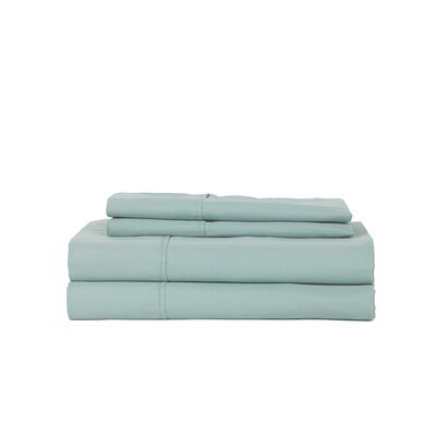 Hobbes 450 Thread Count Egyptian Quality Cotton Sheet Set Size: King, Color: Aqua