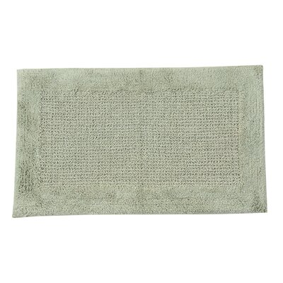 Radcliffe 100% Cotton Naples Spray Latex Back Bath Rug Color: Light Sage, Size: 34 H X 21 W