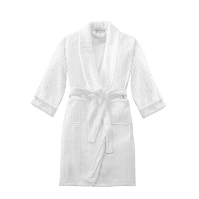 Kingsley Unisex Terry Stripe Velour Shawl Bathrobe
