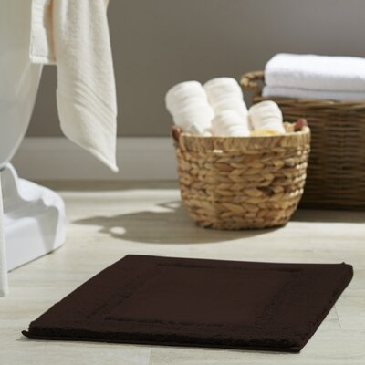 Clarke Bath Rug Color: Java, Size: 17 W x 24 L
