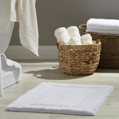 Clarke Bath Rug Color: White, Size: 17 W x 24 L