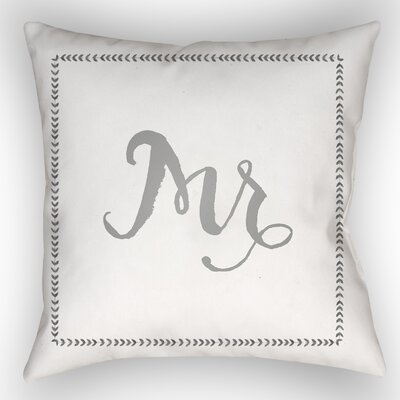 Jaxson Indoor/Outdoor Throw Pillow Size: 20 H x 20 W x 4 D, Color: Gray