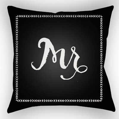 Jaxson Indoor/Outdoor Throw Pillow Size: 18 H x 18 W x 4 D, Color: Black