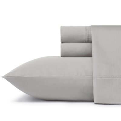 Braxton 300 Thread Count 100% Cotton Sheet Set Size: Queen, Color: Silver