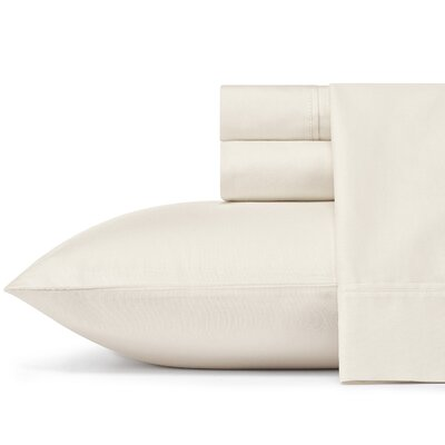 Braxton 300 Thread Count 100% Cotton Sheet Set Size: Queen, Color: Ivory