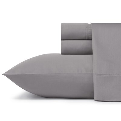 Braxton 300 Thread Count 100% Cotton Sheet Set Size: Queen, Color: Charcoal