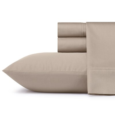 Braxton 300 Thread Count 100% Cotton Sheet Set Size: Queen, Color: Cobblestone
