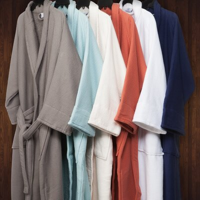 Whitman Superior 100% Cotton Waffle Weave Spa Bathrobe