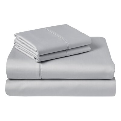 Cather 1000 Thread Count 100% Cotton Sheet Set Color: Silver, Size: Queen