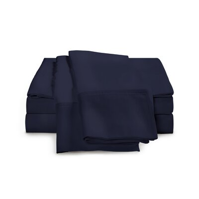 Chaucer 1000 Thread Count Egyptian-Quality Cotton Sheet Set Size: Full, Color: Navy Blue