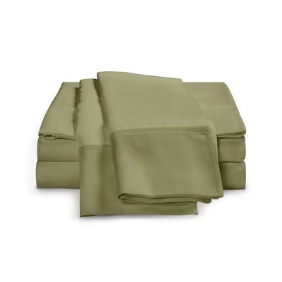 Chaucer 1000 Thread Count Egyptian-Quality Cotton Sheet Set Size: California King, Color: Sage