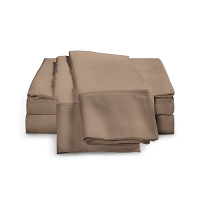 Chaucer 1000 Thread Count Egyptian-Quality Cotton Sheet Set Size: Queen, Color: Taupe