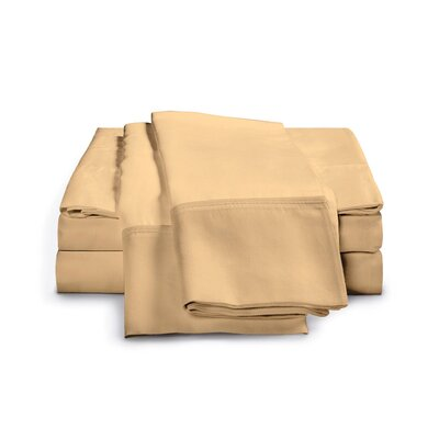 Chaucer 1000 Thread Count Egyptian-Quality Cotton Sheet Set Size: Queen, Color: Gold