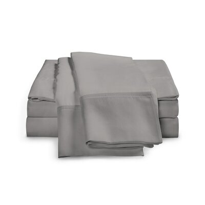 Chaucer 1000 Thread Count Egyptian-Quality Cotton Sheet Set Size: Queen, Color: Grey