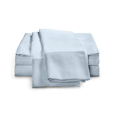 Chaucer 1000 Thread Count Egyptian-Quality Cotton Sheet Set Size: King, Color: Light Blue