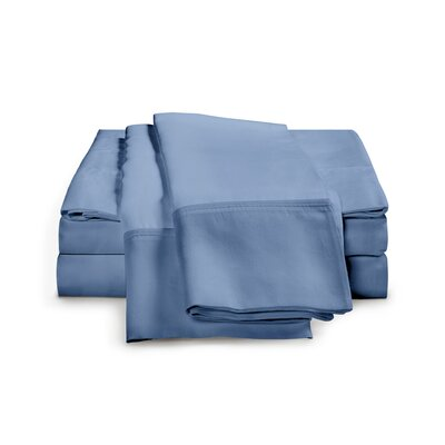 Chaucer 1000 Thread Count Egyptian-Quality Cotton Sheet Set Size: King, Color: Medium Blue
