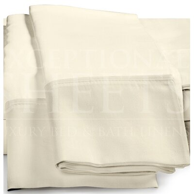 Omar 1000 Thread Count Egyptian-Quality Cotton Pillowcase Set Size: Standard, Color: Ivory