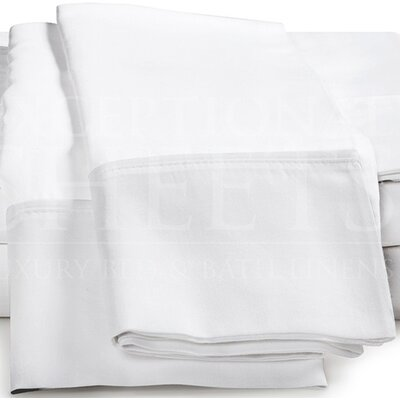 Omar 1000 Thread Count Egyptian-Quality Cotton Pillowcase Set Size: Standard, Color: White