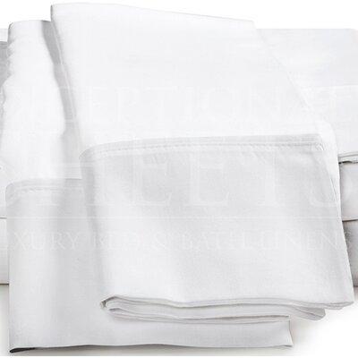 Omar 1000 Thread Count Egyptian-Quality Cotton Pillowcase Set Size: King, Color: White